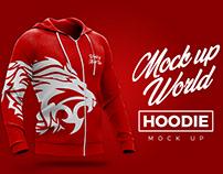 Hoodie Half Side view Mock-Up - World of Mock Ups
