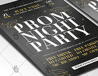 Prom Party Flyer - PSD Template