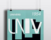 Afiche tipográfico - UNIVERS