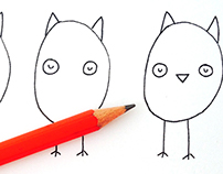 How to Draw Owls | Drawing Instruction for Kids