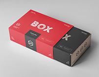 Carton Box Mock-up 235x160x70 & Wrapper