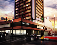 Exterior design for a competition of Carlton Hotel