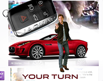 Jaguar F-Type home page take over
