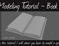 Maya 2018 modeling tutorial - open book
