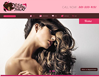 This is a website rebrand I created for a Hair Salon.