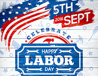 Labor Day Party Poster vol.3