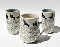 Dancing Crow Cups