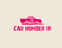 Car Number 18 - Hand Drawn Logo