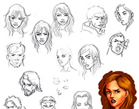 CONCEPT ART/DIBUJO - Estudio de rostros humanos
