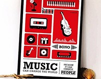 Music Typography Art Posters