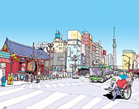 Works | Tokyo Metro Tax Bureau Posters January 2021