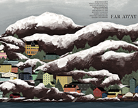 Sam Caldwell Travel Illustrations for Qantas