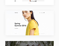 Forever Modern Fashion Theme UX / UI