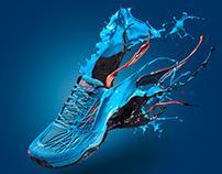 Splashing shoes