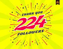 Celebration 224 followers