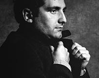 Portraits of Stijn Vervoort, Belgian Actor.