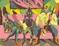 Beetlejuice postcard art show