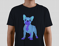 ~French Bulldog T-shirt design project for a client.