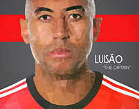 "Luisão ""The Captain"" - Illustration"
