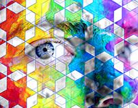 Hexagonal Poly Art
