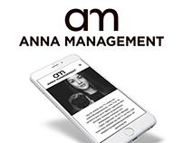 HEMSIDA/LOGO TILL ANNA MANAGEMENT