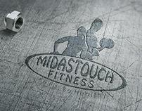 Midastouch Fitness Creative Logo