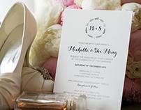 Michelle & Shi Ming's Wedding Invitation