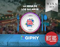 Giphy lunch table by Fioravanti, 140 years celebration