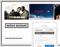 ActorsAccount - Signup UX