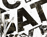 Textura tipográfica. Desplegable.