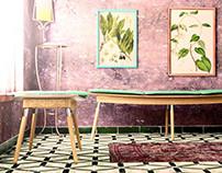 Flat Sofa Set / Design & CGI
