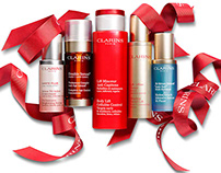 Clarins Key Visual Shot for advertising campaign.
