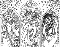 GODDESS Coloring Page Installation