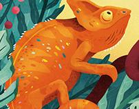 Floor Sticker Chameleon