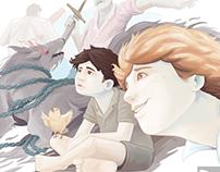 Illustrations inspired on the novel Marcos Ramírez