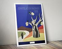 """Diseño Cartel. """"Constelación Machado 2019""""."""