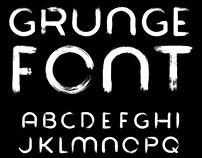 Grunge Paintbrush Font