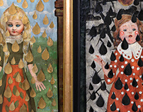Diptych: Frau Holle's Gifts (Gold and Tar)