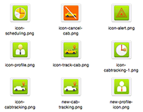 ICON designs for - cab management