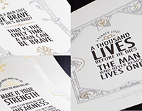 Game of Thrones Quotes Prints
