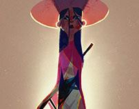 Samurai/Geisha, Character Design Challenge