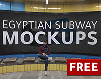Free Mockup | Egyptian Subway Mockups