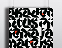 Typographic posters - Triangle Typeface