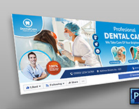 Dental Facebook Cover Template