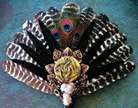 AUGHRA'S ORACLE Turkey Feather Ritual Fan