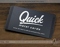 Quick Metal Business Cards - Ready in 24 Hours!