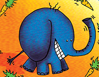 Color drawings X - Carrot Elephant