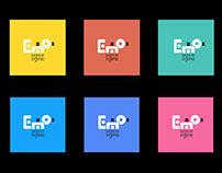 Logotipo + Ilustraciones para E=mo2 juegos de ingenio