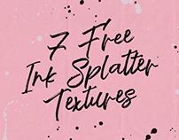 7 FREE INK SPLATTER TEXTURES