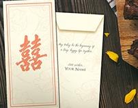 Customized Wedding Envelope Suang Xi